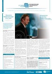 Im Gespräch mit Ao. Univ. Prof. Dr. Klaus-Felix Laczika - Termine ...
