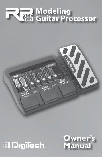 modeling guitar processor owner s manual digitech rh yumpu com Rp 10 Digitech Power Supply Digitech Pedals