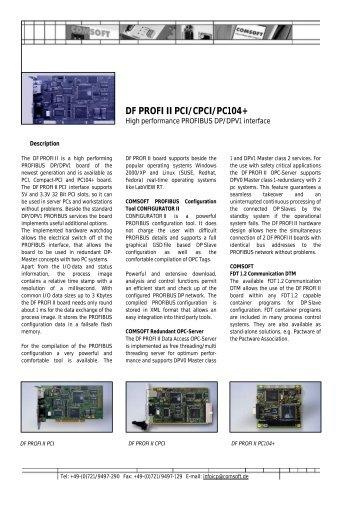 DF PROFI II PCI/CPCI/PC104+