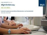 LATEX-Einführung 02.12.2011