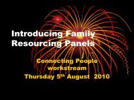 Introducing Family Resourcing Panels