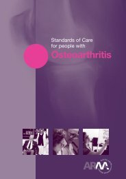 Standards of Care for people with osteoarthritis - The Arthritis and ...