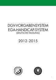 DGV-VorGabensystem eGa-HanDicap-system ... - Golf Club Aaretal