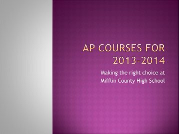 AP Courses at MCHS - Mifflin County School District