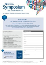 Registration form - Queensland Law Society