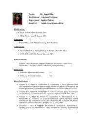 Name: Dr. Rupali Jha Designation: Assistant Professor ... - SIT