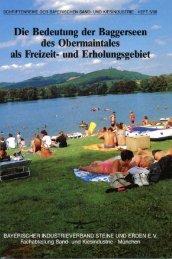 Die Bedeutung der Baggerseen des Obermaintales als Freizeit- und ...