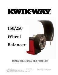 150/250 Wheel Balancer - aesco