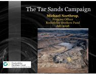The Tar Sands Campaign - Typepad