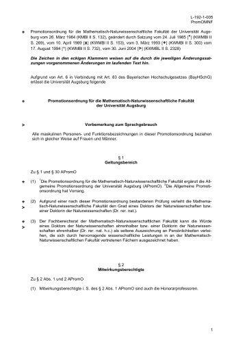 Promotionsordnung für die Mathematisch-Naturwissenschaftliche ...
