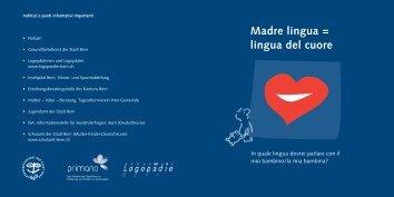 Madre lingua = lingua del cuore - Buchstart