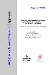 7/2010 - Arbets- och miljömedicin   Uppsala