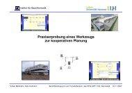 Praxiserprobung eines Werkzeugs zur kooperativen Planung