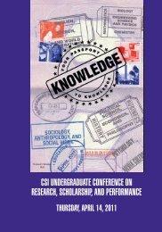 csi undergraduate conference on research, scholarship ... - CSI Today