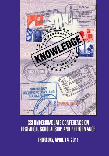 csi undergraduate conference on research, scholarship ... - CSI Today