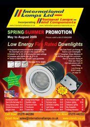 Low Energy Fire Rated Downlights - National Lamps and Components