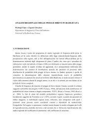 analisi regionale delle piogge brevi in basilicata - idrologia@polito