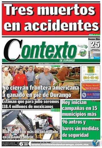 25/05/2013 - Contexto de Durango