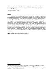 A trajetória do negro no Brasil e a Territorialização ... - UFRB
