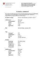 FLUGUNFALL-VORBERICHT - Universität St.Gallen