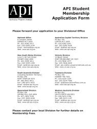 API Student Membership Application Form - The Australian Property ...