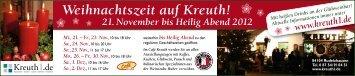 Weihnachtszeit auf Kreuth! 21. November bis Heilig ... - Auf Kreuth1