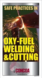 OXY-FUEL WELDING &CUTTING - Concoa
