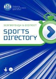9069 SDSC sports directory - Scarborough Borough Council