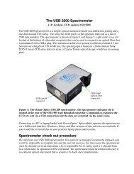 The USB 2000 Spectrometer Spectrometer check out ... - UGAstro