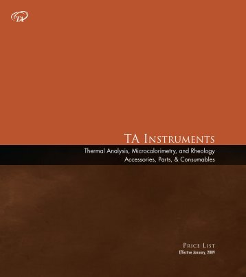 P&A 2009:Thermal - TA Instruments