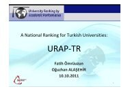 URAP-TR - International Observatory on Academic Ranking and ...