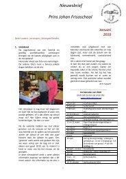 Nieuwsbrief Prins Johan Frisoschool - Webkey