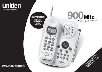 Uniden EXAI398 - at Uniden
