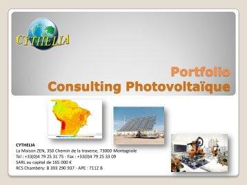 Portfolio Consulting Photovoltaïque - Cythelia