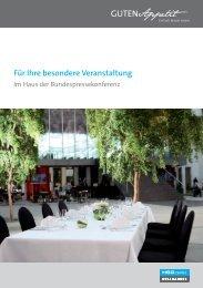 Tagungszentrum Info Broschüre