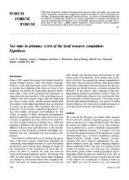 Sex Ratio in Primates: A Test of the Local ... - Colin Chapman
