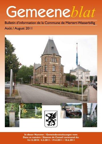 Gemeinderatssitzung - Administration Communale de Mertert