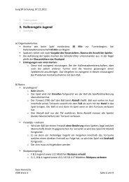 3. Hallenregeln Jugend