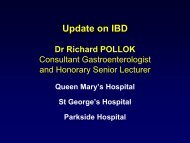 Update on Inflammatory Bowel Disease - Dr ... - Parkside Hospital