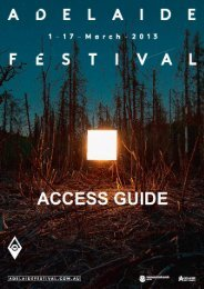 Download the 2013 Adelaide Festival Access Guide