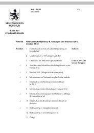 Dagordning för BUN 2012-02-09