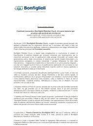 Comitato Leonardo e Bonfiglioli Riduttori SpA di nuovo insieme per ...