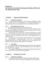 (SEM) und das Bundesturnier (BT) - Schweizer Schachbund