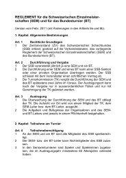 (SEM) und für das Bundesturnier (BT) - Schweizer Schachbund