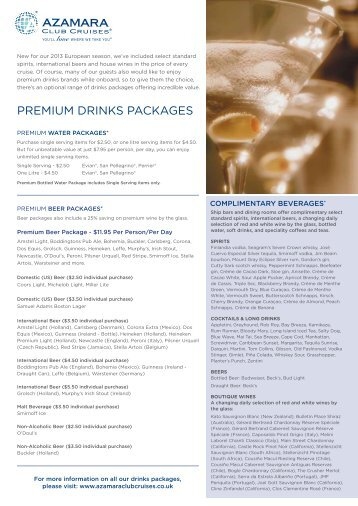 MSC Cruises Launches All-Inclusive Beverage Packages