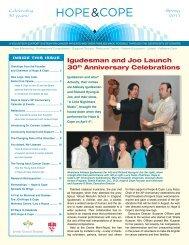 Hope & Cope Newsletter Spring 2011