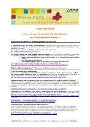 FICHE TECHNIQUE « Les marchés de construction/réhabilitation et ...
