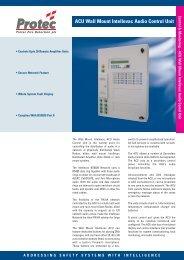 ACU Audio Control Unit - Protec Fire Detection
