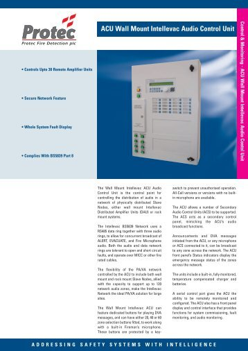 ACU Audio Control Unit - Protec Fire Detection