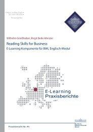 E-Learning Praxisberichte - ERCIS - European Research Center for ...